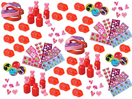 100-Piece-Bulk-Valentines-Day-Themed-Party-Favor-Assortment-Pack-for-Kids-Parties-or-Classroom