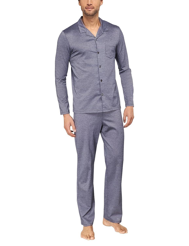 Schiesser Herren Zweiteiliger Schlafanzug Pyjama Lang