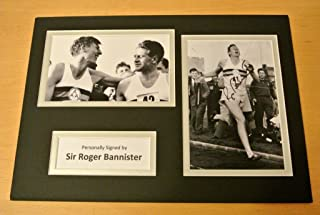 Sportagraphs SIR ROGER BANNISTER HAND SIGNED AUTOGRAPH A4 PHOTO DISPLAY & COA 4 MINUTE MILE