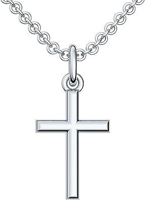 Männer Frauen Kinder Kreuz Anhänger aus Echt Silber 925 inkl Kette Länge wählbar