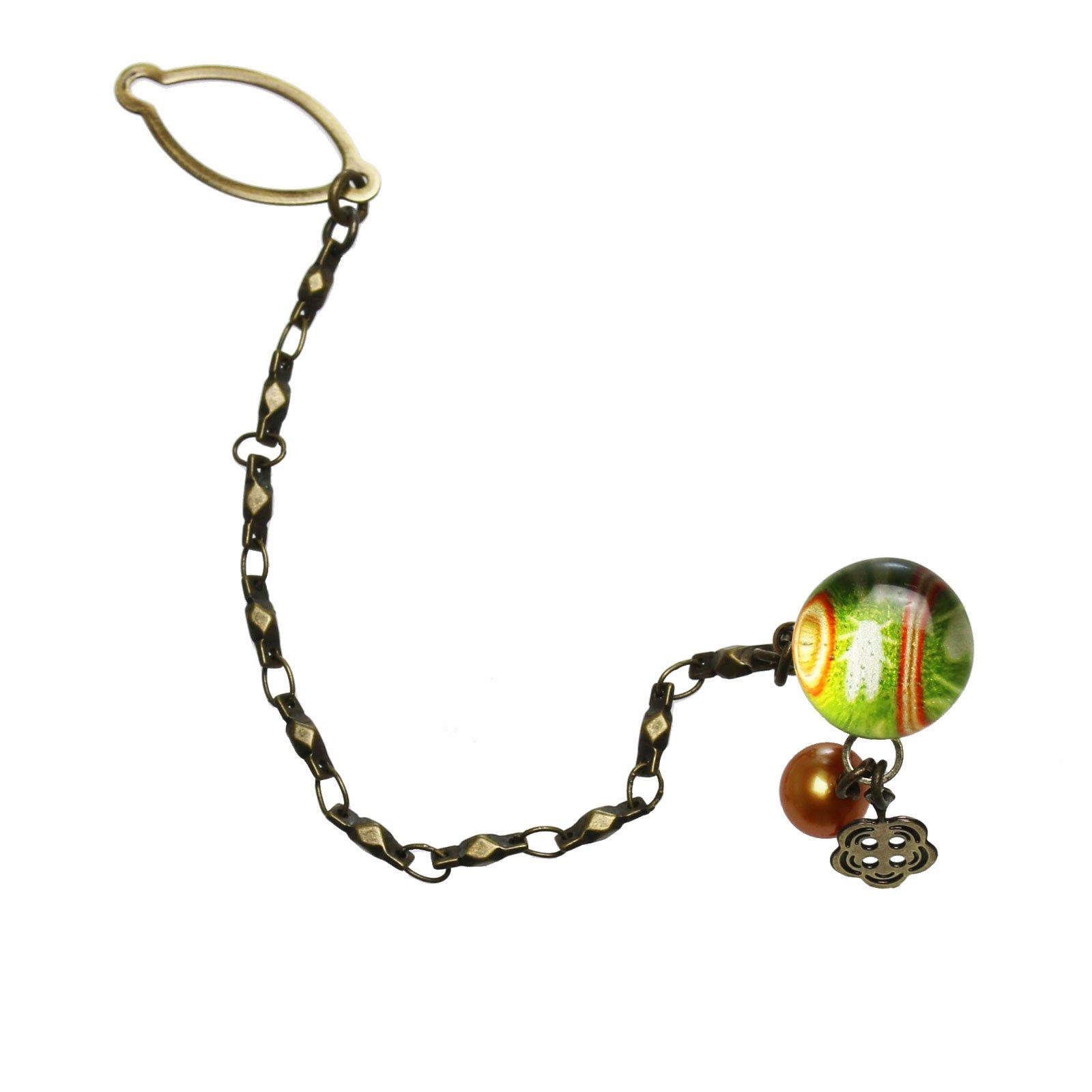 Tamarusan Tie Tack Pin Cicada Freshwater Pearl Green Tie Pin Tie Pin