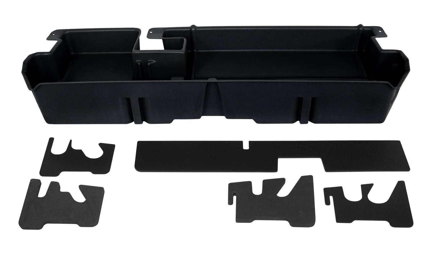 DU-HA Under Seat Storage Fits 07-17 Toyota Tundra Double Cab without Subwoofer, Black, Part #60051