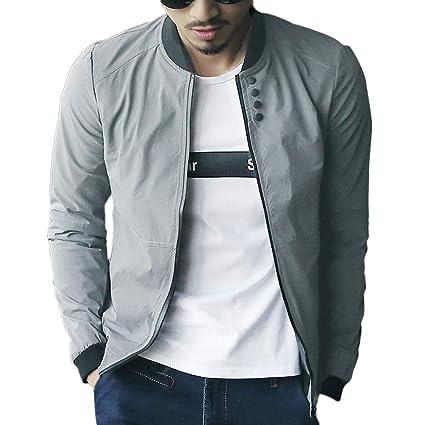 LILICAT Chaqueta de Moda Casual para Hombre Abrigo de béisbol de Invierno cálido Abrigo Delgado Outwear