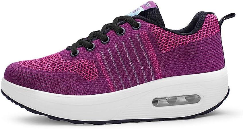 RYTEJFES Calzado Deportivo Planas con Cordones para Mujer Zapatos Hombre Deportivos Air Zapatos con Cordones Malla Transpirable Zapatillas De Deporte De Fondo Suave para Mujer Al Aire Libre: Amazon.es: Hogar