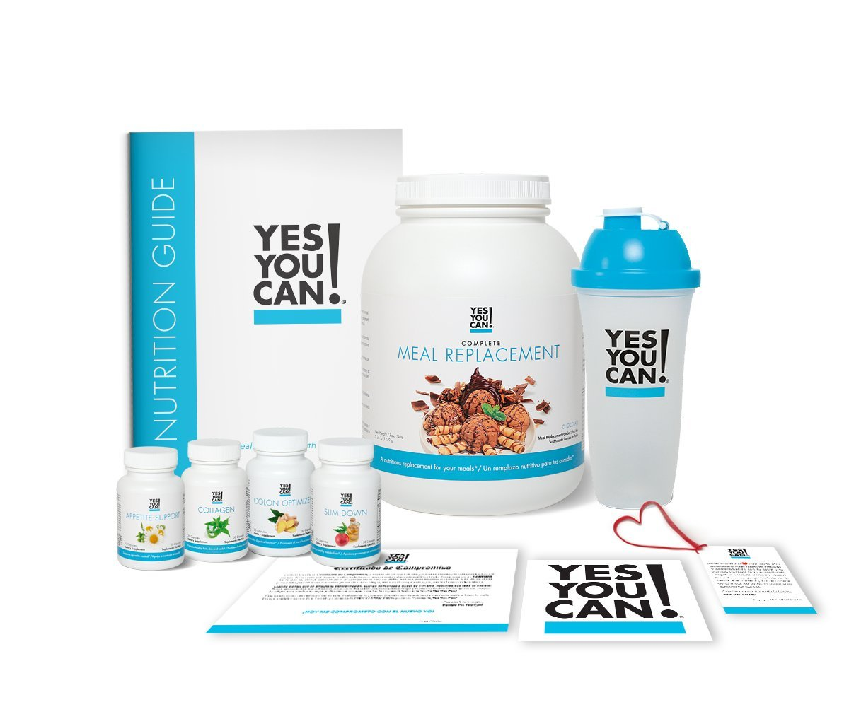 Yes You Can! Transform Kit: On-The-Go 30 Servings, Once a Day, Contains: One Complete Meal Replacement Chocolate, One Slim Down, One Appetite Support, One Collagen, One Colon Optimizer, One Shaker
