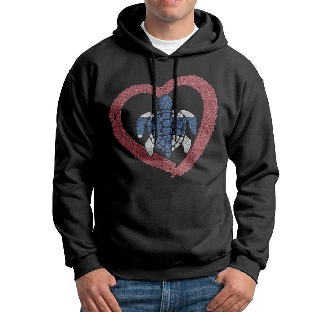 NWYYZDD Boys Sea Turtle Finland Heart Patterns Print Athletic Pullover Hood Fashion Sweatshirts