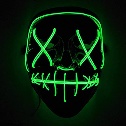 CTlite LED Mask, Frightening Wire Halloween Cosplay Prop Light up Mask Festival Halloween Costumes Party