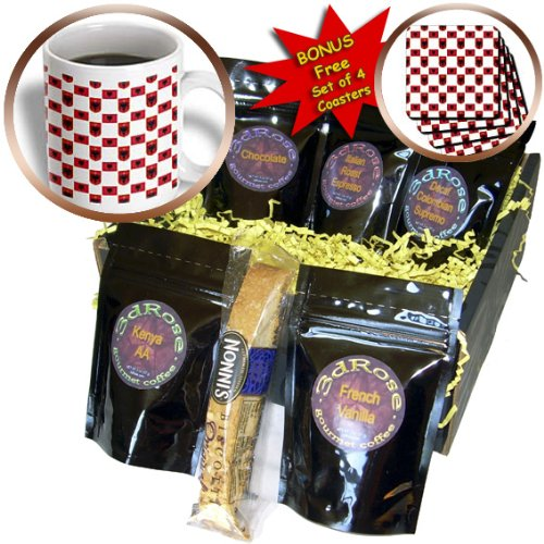 777images Flag and Crest Patterns - The flag and Coat of Arms of the Republic of Albania make a colorful patriotic Albanian pattern - Coffee Gift Baskets - Coffee Gift Basket (cgb_63232_1)