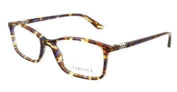 1780d82322 Versace VE3163 Eyeglasses-992 Striped Brown Honey Blue-54mm  Amazon ...