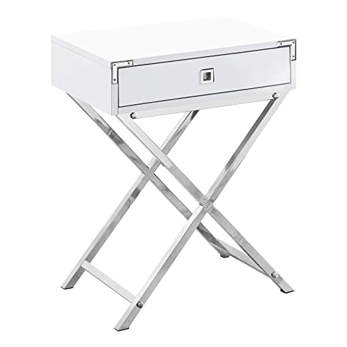 Monarch Specialties 3550 Accent Table, One Size, White
