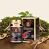 Pocheon Korean Red Ginseng Concentrate Extract Gold 240g, Ginsenoside Rg1+Rb1+Rg3 10mg/g, Solid 75%, for Improving Blood Circulation, Developing Memory, Relieving Fatigue, Helping Antioxidant