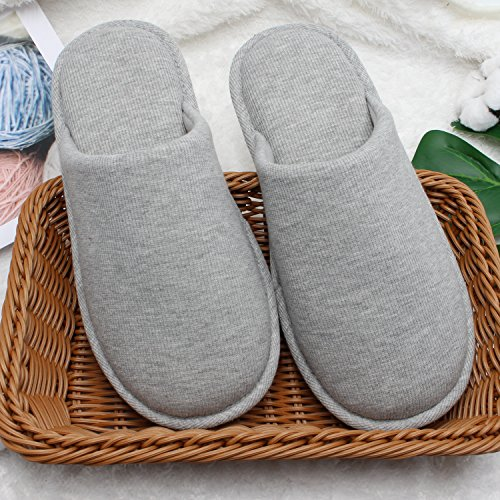 Ofoot Women's Cozy Cotton Thread Cloth House Slippers, Indoor / Outdoor Slip on Shoes by Ofoot (Image #3)