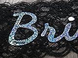 Bachelorettesy Bride to Be Sash (Black Lace) Bachelorette Sash and Bridal Shower Accessories