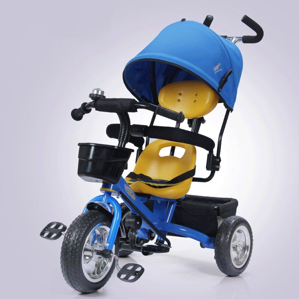 子供用三輪車自転車子供用カート1-5子供用自転車子供用カート、青、赤、ピンク、85 * 45 * 100cm ( Color : Blue )   B07CG2JJKK