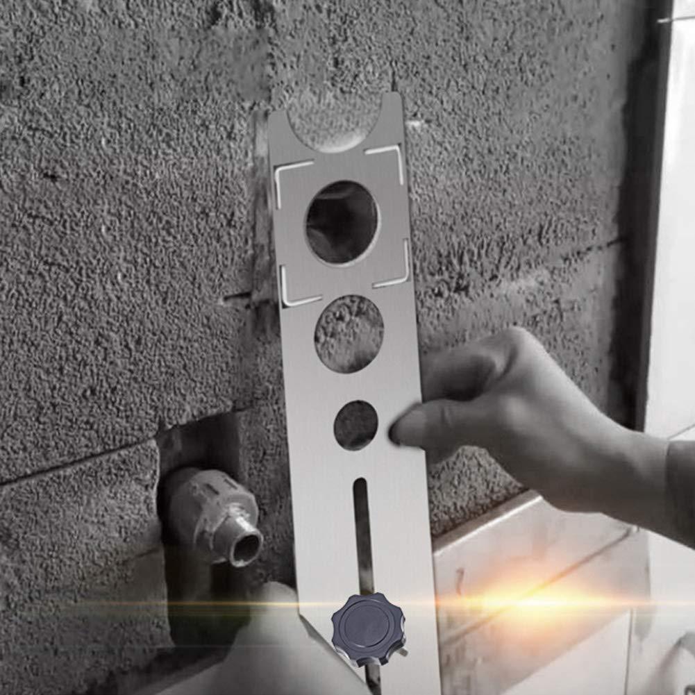 Posizione Righello Regolabile Hole Locator SADA72/Piastrelle di Ceramica Foro localizzatore in Acciaio Inox Strumenti di Misura Universale localizzatore per Piastrelle misurazione Posizionamento