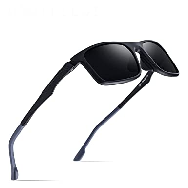b39868472 Amazon.com: Sports Polarized Sunglasses Men 2019 New Driving Outdoor Square  Goggles Mirror Shades Sun Glasses for Men: Clothing