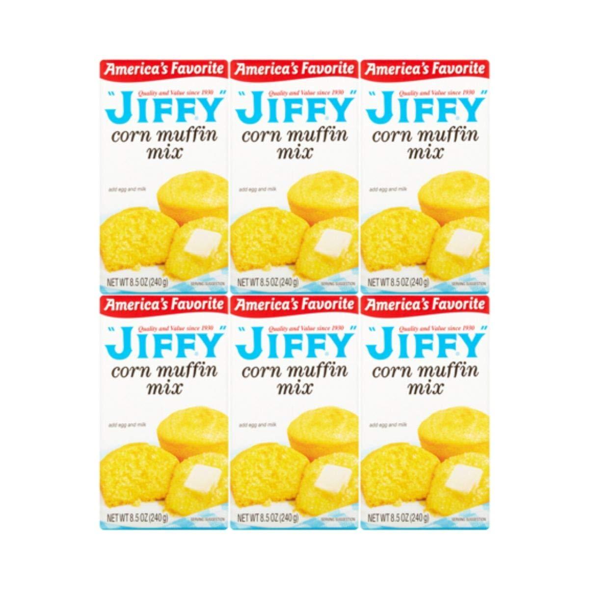 Jiffy Corn Muffin Mix, 8.5 oz, (6 Boxes)