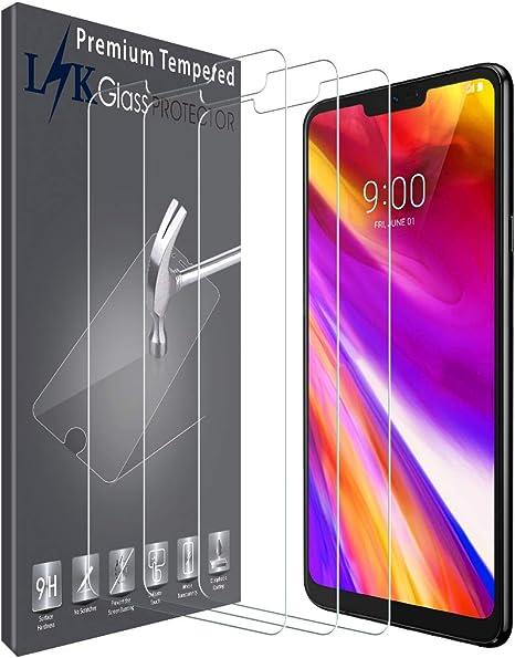 Imagen deLK Protector de Pantalla para LG G7 ThinQ Cristal Templado, [3 Unidades] [9H Dureza] [Resistente a Arañazos] Vidrio Templado Screen Protector para LG G7 ThinQ