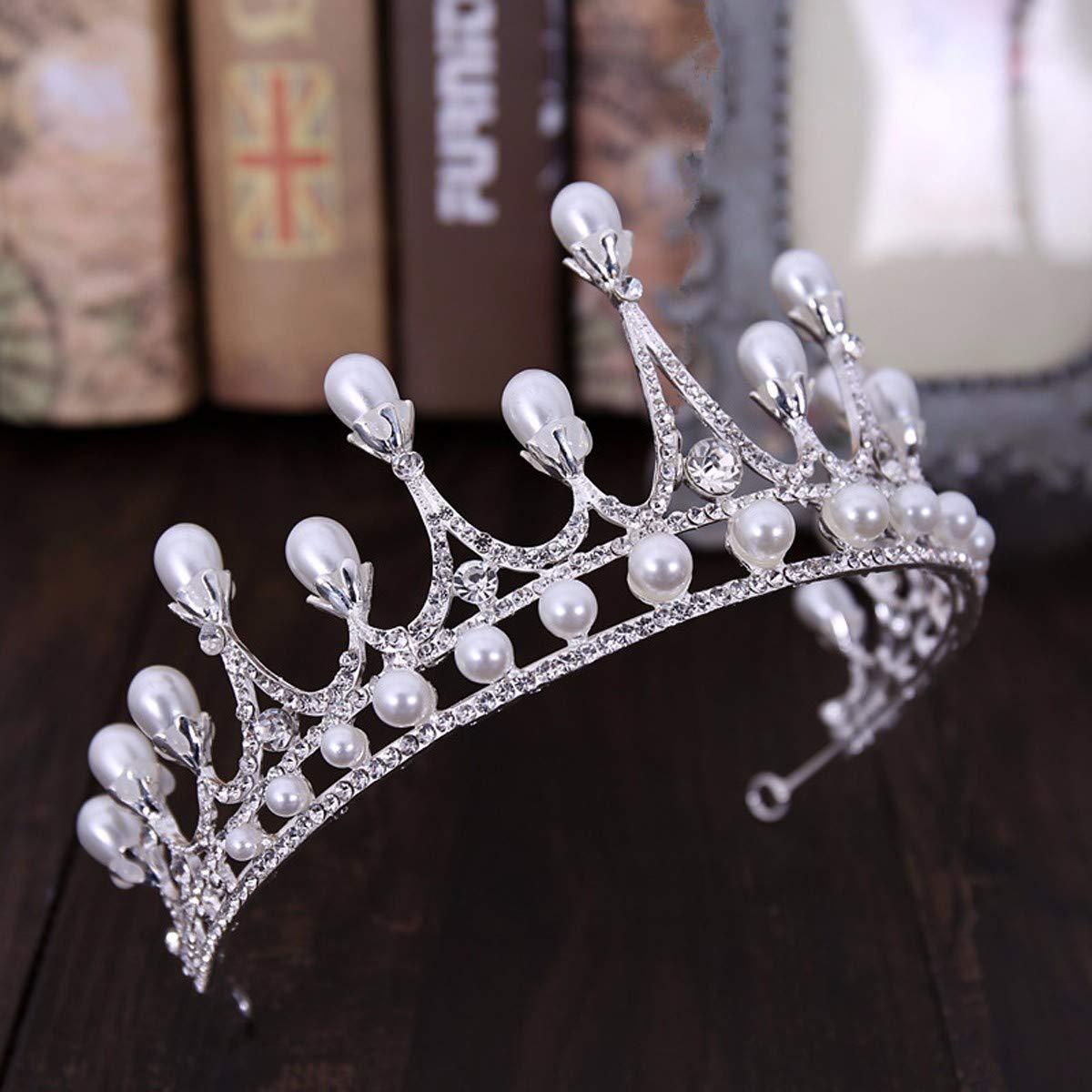 Wedding Crown, Beautiful headdress/Bridal Ornaments Crown Jewellery Wedding Dress Accessories by Junson (Image #2)