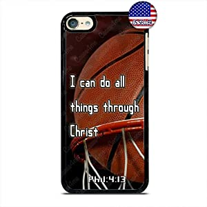 Basketball Sports Bible Verse Christian Religion Slim Shockproof Hard PC Custom Case Cover for iPod Touch 7 6 5