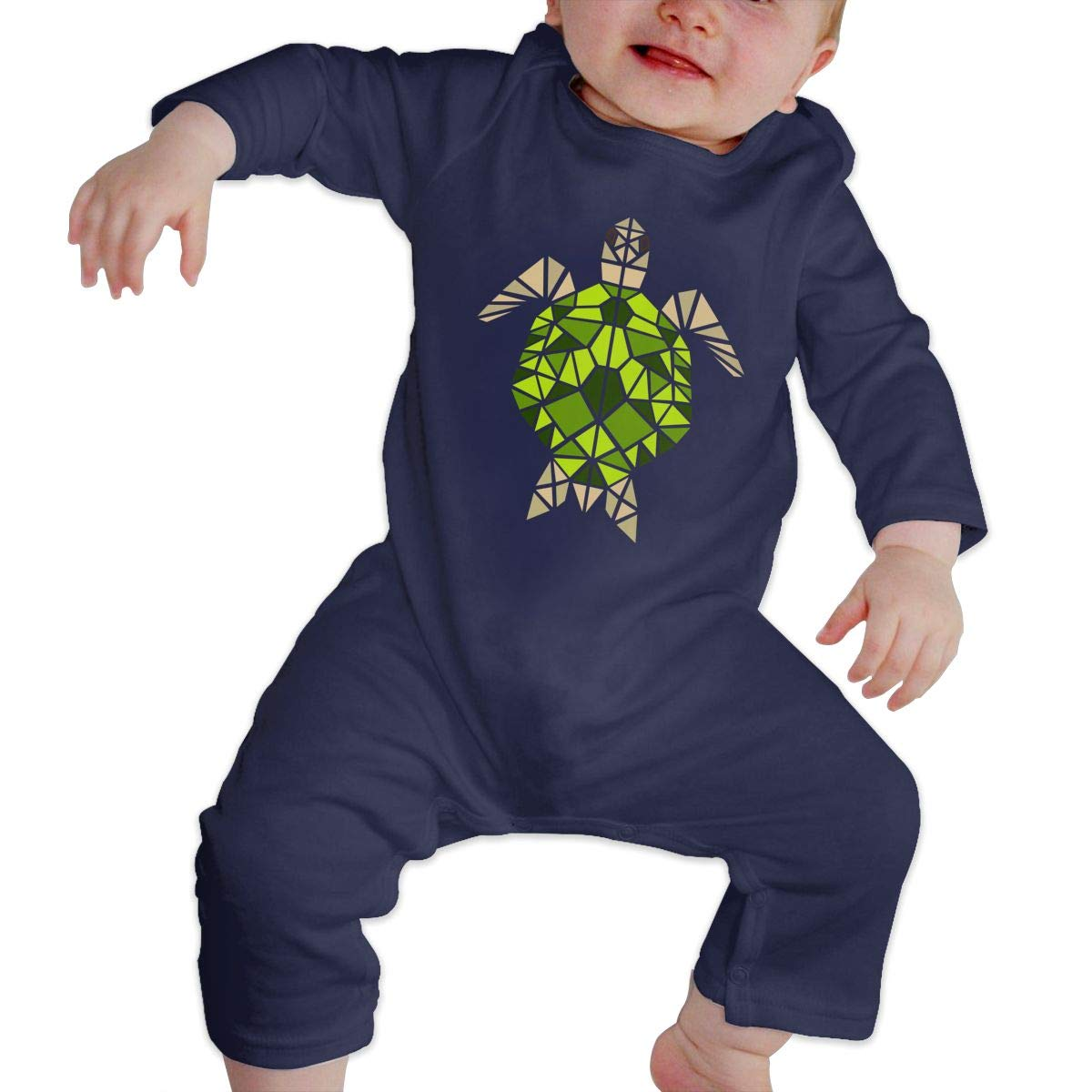The Tortoise Unisex Long Sleeve Baby Gown Baby Bodysuit Unionsuit Footed Pajamas Romper Jumpsuit