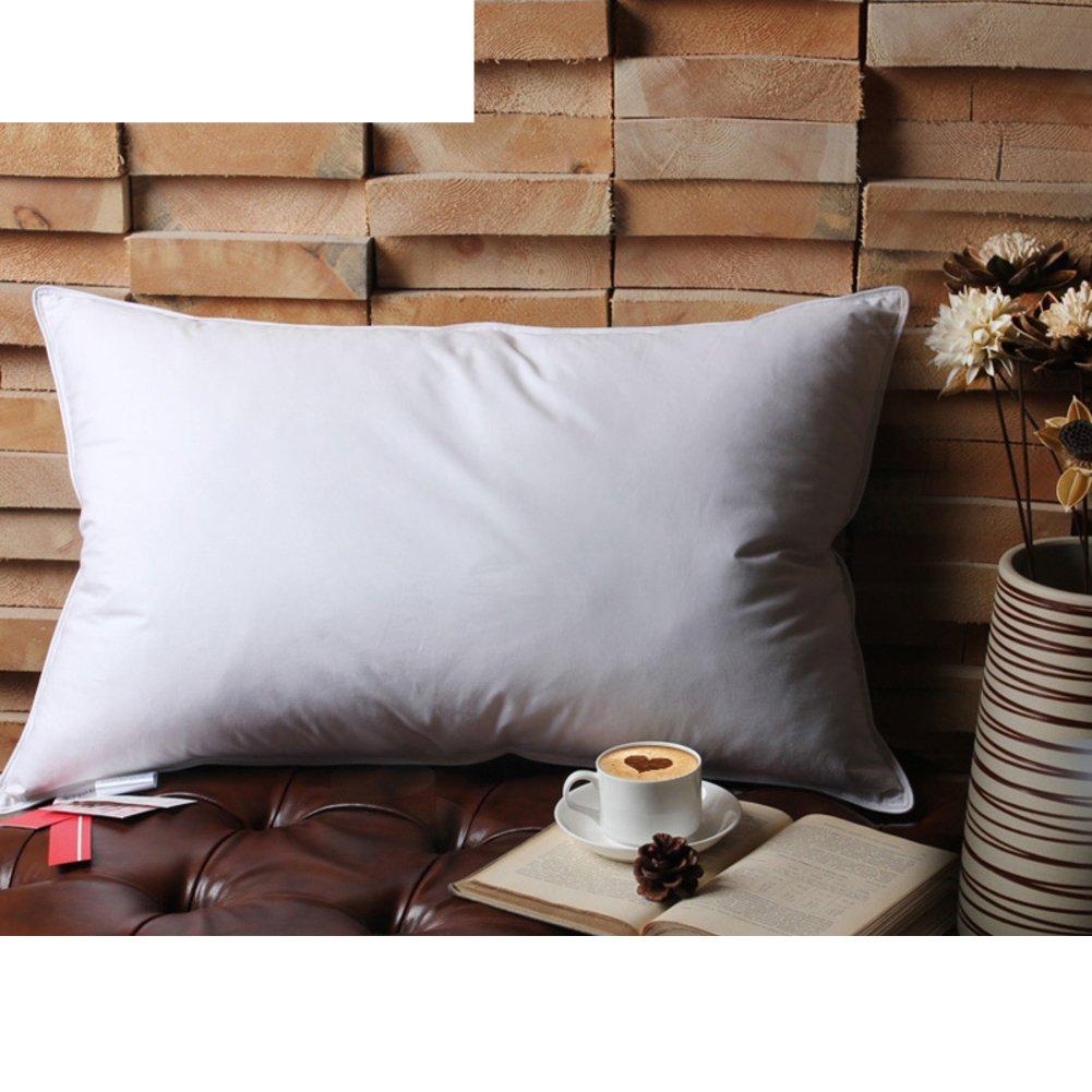 DXG&FX Five star hotel pillows feather goose feather pillow core single cervical neck pillow-A 48x74cm(19x29inch)