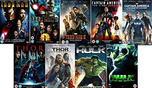 Avengers Ultimate Marvel Comic Heroes All 9 Movies DVD