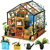 Rolife DIY Dollhouse Miniature Furniture Kit with Accesories-Creative Christmas/Birthday Handcraft Gift for Women and Girls (Cathy's Flower House)