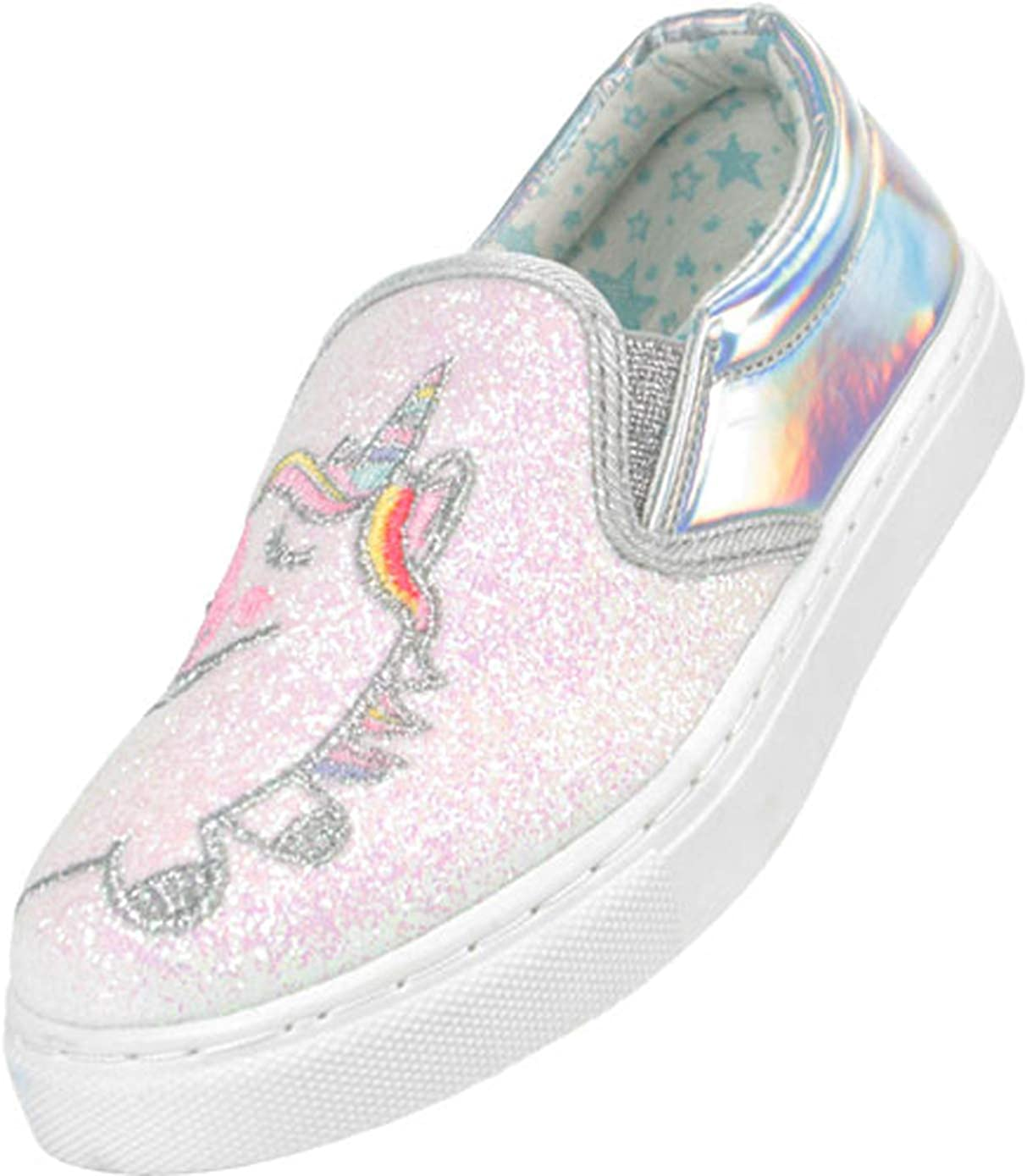 Girls Kids Silver and Pale Pink Glitter