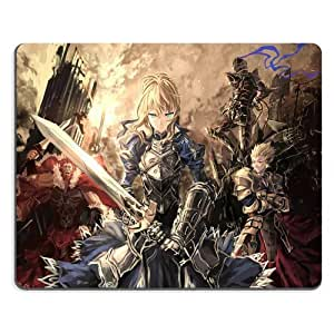 Fate Zero Saber Mouse Pads Anime Game Manga Comic ACG Customized Made to Order Support Ready 9 7/8 Inch (250mm) X 7 7/8 Inch (200mm) X 1/16 Inch (2mm) High Quality Eco Friendly Cloth with Neoprene Rubber Woocoo Mouse Pad Desktop Mousepad Laptop Mousepads Comfortable Computer Mouse Mat Cute Gaming Mouse_pad