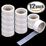 Balloon Glue 1200 PCS (12 Rolls) Double Sided Dots of Glue Craft Adhesive Point Tape Non-liquid Glue (1200 PCS)