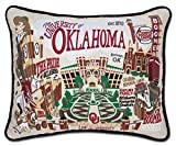 OKLAHOMA, UNIVERSITY OF COLLEGIATE EMBROIDERED PILLOW - CATSTUDIO