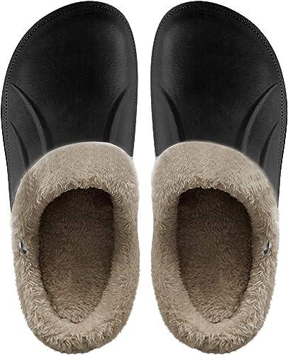 Damen Herren Pantoffel Hausschuhe Pantoffeln Plüsch Schuhe Schlappen