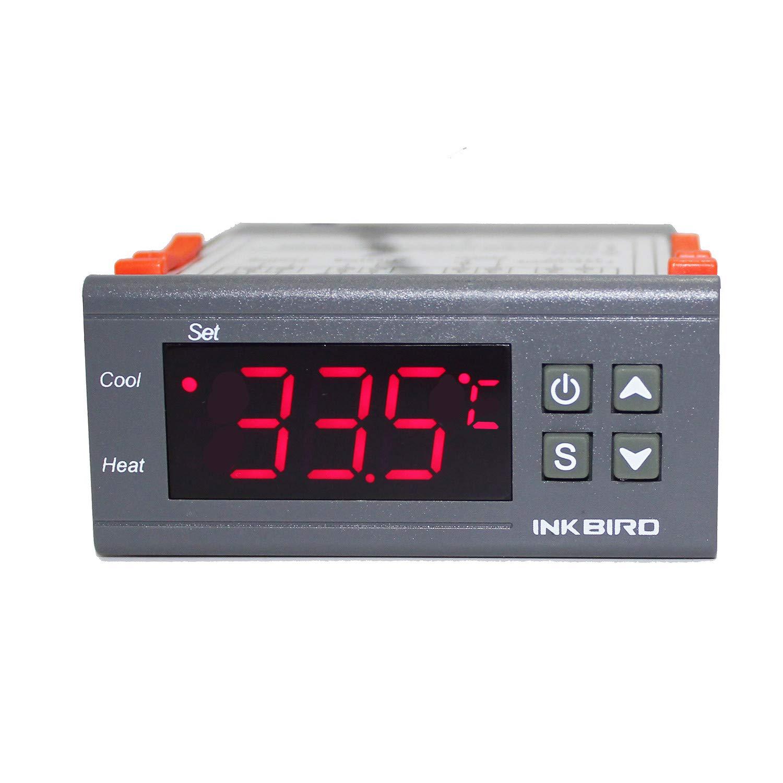 Inkbird All-Purpose Digital Temperature Controller Fahrenheit &Centigrade Thermostat w Sensor 2 Relays ITC-1000