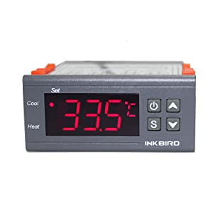 Inkbird All-Purpose Digital Temperature Controller Fahrenheit &Centigrade Thermostat w Sensor 2 Relays ITC-1000