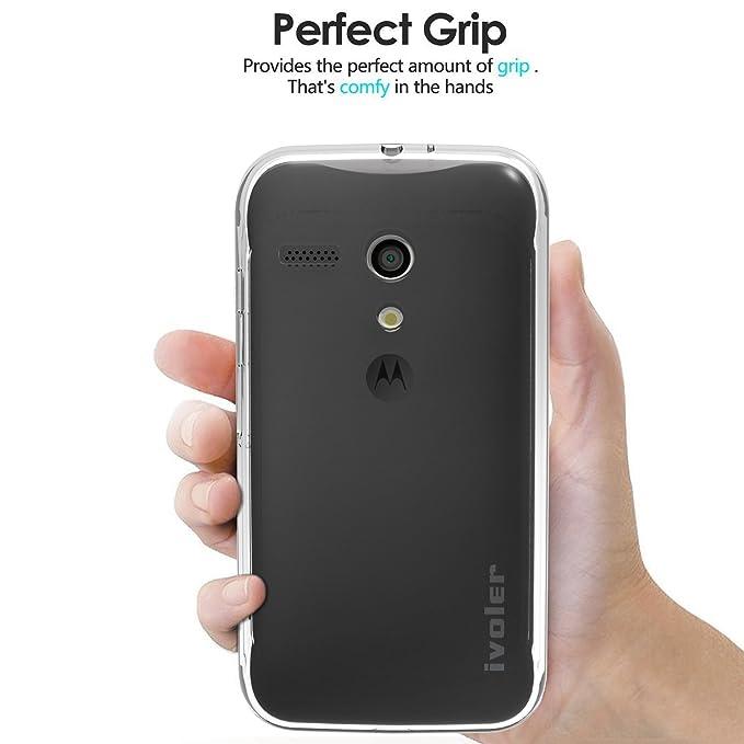 ivoler Funda Carcasa Gel Transparente para Motorola Moto G 2013 Edition (1st Gen / G1), Ultra Fina 0,33mm, Silicona TPU de Alta Resistencia y ...