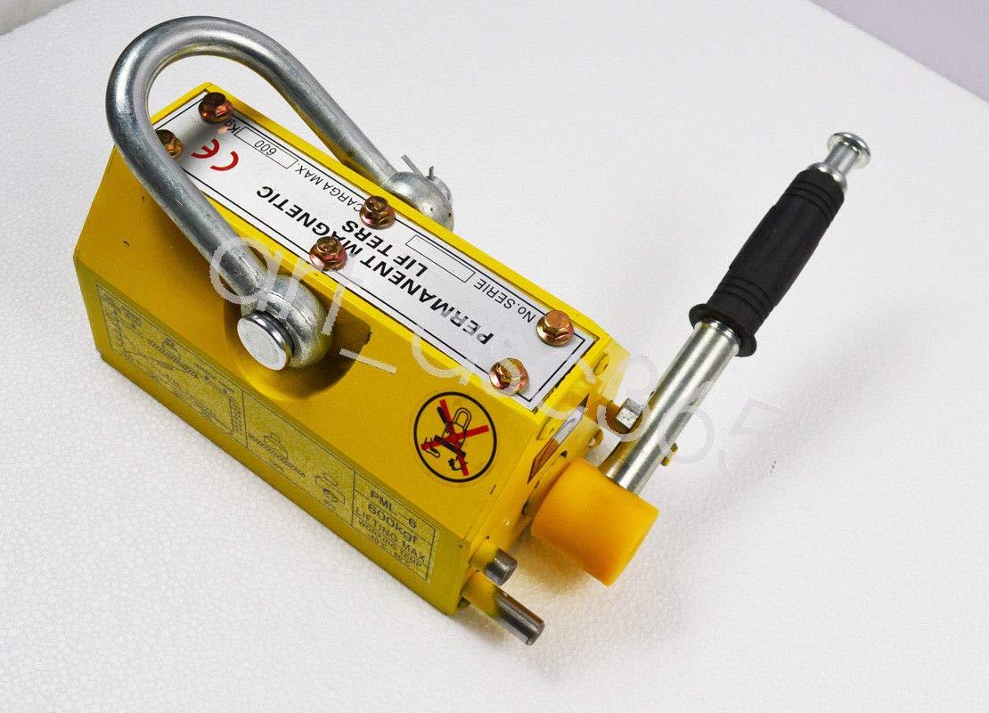 INTBUYING 600KG Steel Magnetic Lifter Heavy Duty Crane Hoist Neodymium Magnet