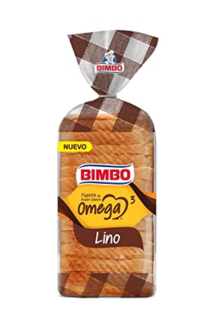 Pan Bimbo Omega 3 - Pan de molde de Lino - 450g: Amazon.es ...
