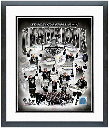 """Los Angeles Kings 2014 NHL Stanley Cup Champions Team Composite Photo (Size: 12.5"""" x 15.5"""") Framed"""
