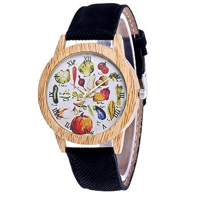 Rcool Relojes suizos relojes de lujo Relojes de pulsera Relojes para mujer Relojes para hombre Relojes deportivos,Correa de cuero analógico de cuarzo reloj ...