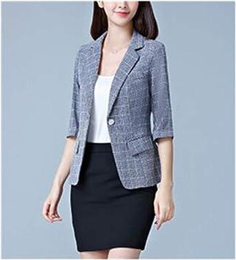 Plus Size Women Collar Suit Jacket Coat Blazer Ladies 3//4 Sleeve Cardigan Top US