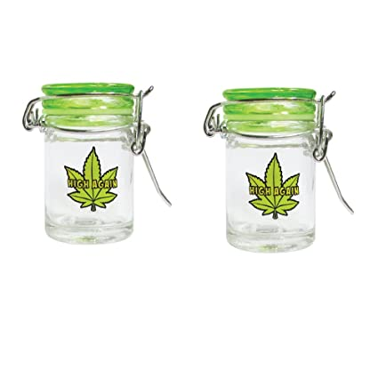 Amazoncom Mason Jar Mini Mason Jar 4 Ounce Marijuana Pot Leaf