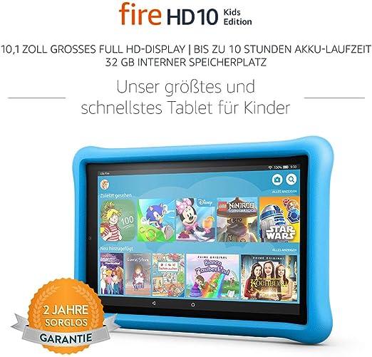 Fire Hd 10 Kids Edition Tablet 25 65 Cm 10 1 Zoll 1080p Full Hd Display 32 Gb Blaue Kindgerechte Hülle Vorherige Generation 7 Amazon Devices
