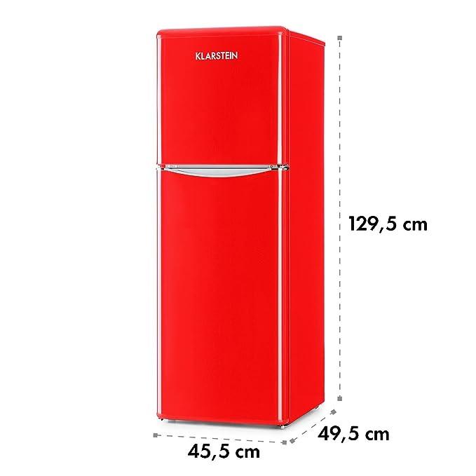 Klarstein Monroe XL Red - Nevera, Congelador, Frigorífico ...