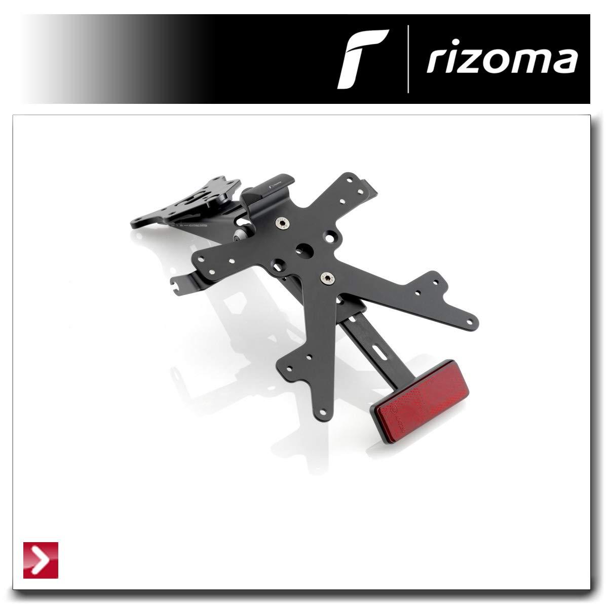 Kit Porta targa FOX RIZOMA Nero PT214B