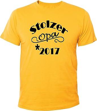 Mister Merchandise Herren Men T-Shirt Stolzer Opa 2017 Tee Shirt Bedruckt:  Amazon.de: Bekleidung