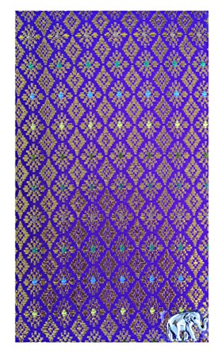 Office Guest Check Presenter for Restaurant, Violet Thai Fabric Check Register for Hotel, Waitstaff Organizer, Waiters Server Book for Waitress, Credit Card Holder 4 by Kathy