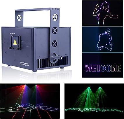 Amazon.com: V-Show - Luz LED para escenario, 1 W, 3 W, RGB ...