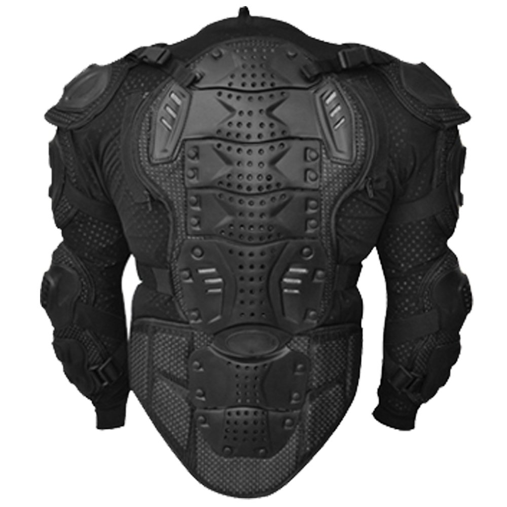 AQWA Motocross Motorbike Body Armour Jacket Motorcycle Protection Guard Jackets Black