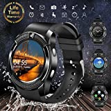 Bluetooth Smart Watch with Camera, Touchscreen Smart Wrist Watch with Sim Card Slot, Camera Controller Bluetooth Watch Unlocked Waterproof Smart Watch Phone for iPhone Android Samsung Men Women